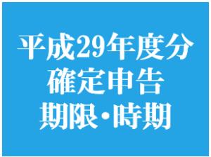 平成29年分 確定申告